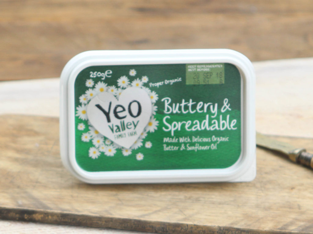 Organic Spreadable Butter 250g. Yeovalley