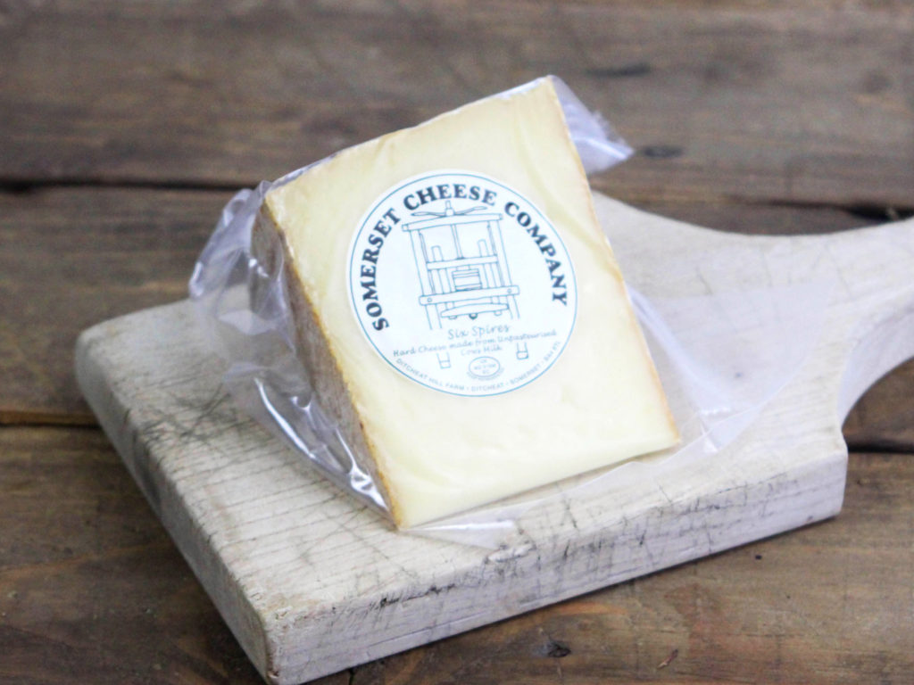 Six Spires Hard Cows Cheese (Rinded) approx 250g